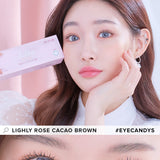 Lenstown Lighly Rose Berry Blue colored contacts circle lenses - EyeCandy's