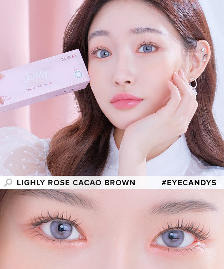 Buy Lenstown Lighly Rose Berry Blue Color Contact Lenses | EyeCandys