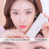 Lenstown Lighly Rose Cacao Brown colored contacts circle lenses - EyeCandy's