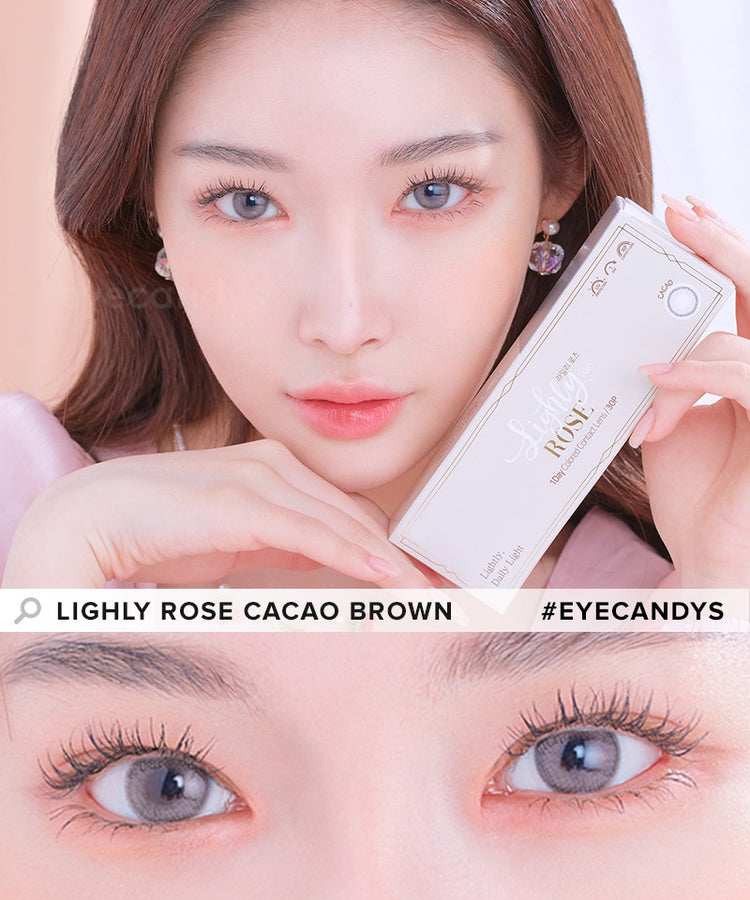 Buy Lenstown Lighly Rose Cacao Brown Color Contact Lenses | EyeCandys
