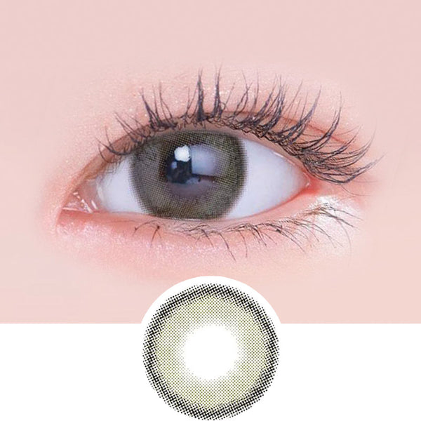 Lenstown Lighly Rose Khaki Brown colored contacts circle lenses - EyeCandy's