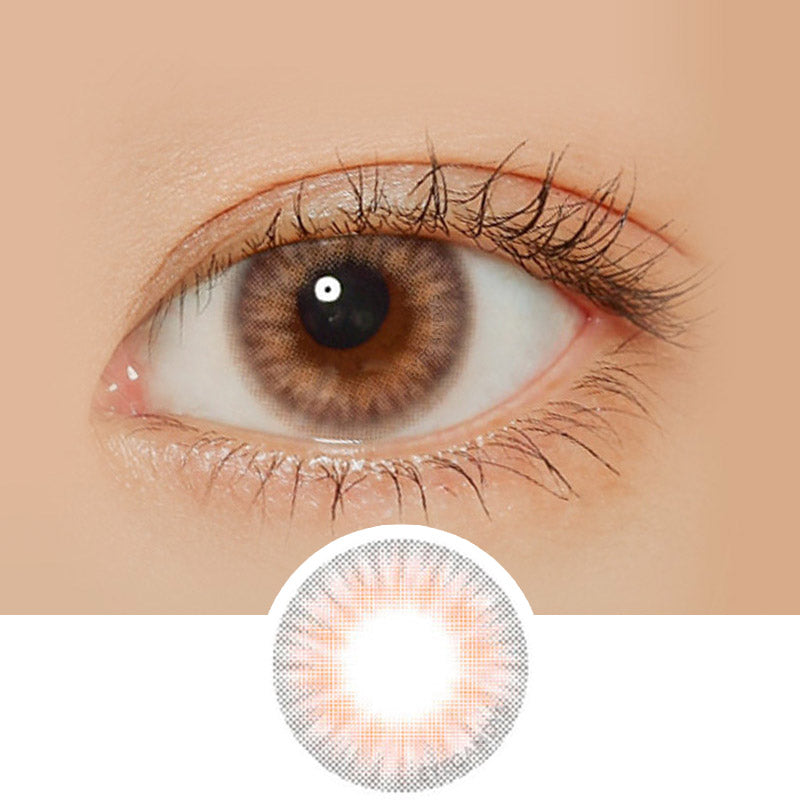 Lenstown Pastel Peach Pink colored contacts circle lenses - EyeCandy's