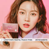Load image into Gallery viewer, Lenstown Pastel Peach Pink colored contacts circle lenses - EyeCandy's