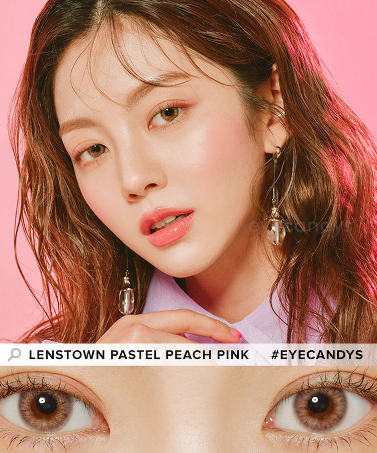 Buy Lenstown Pastel Peach Pink Color Contact Lenses | EyeCandys