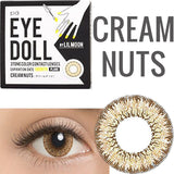 Lilmoon Monthly Cream Nuts Brown (Prescription) colored contacts circle lenses - EyeCandy's