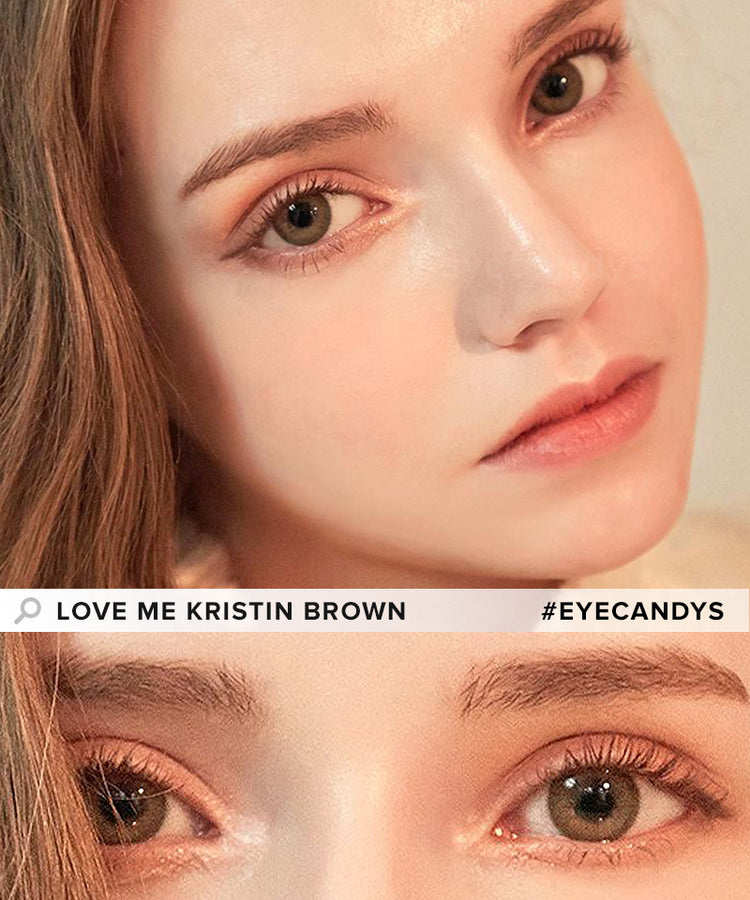Buy Hapa Kristin Love Me Kristin Brown Coloured Contact Lens | EyeCandys