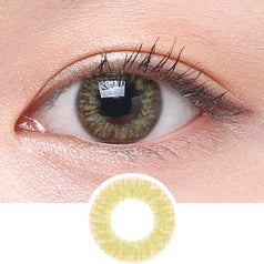 Clalen Iris M Lucy Brown colored contacts circle lenses - EyeCandy's