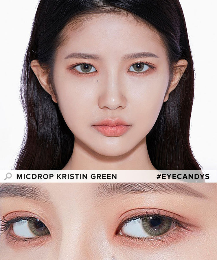 Buy Hapa Kristin Micdrop Kristin Green Coloured Contact Lens | EyeCandys
