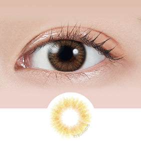 Molak Coral Brown colored contacts circle lenses - EyeCandy's