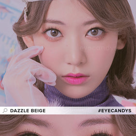 Molak Dazzle Beige colored contacts circle lenses - EyeCandy's