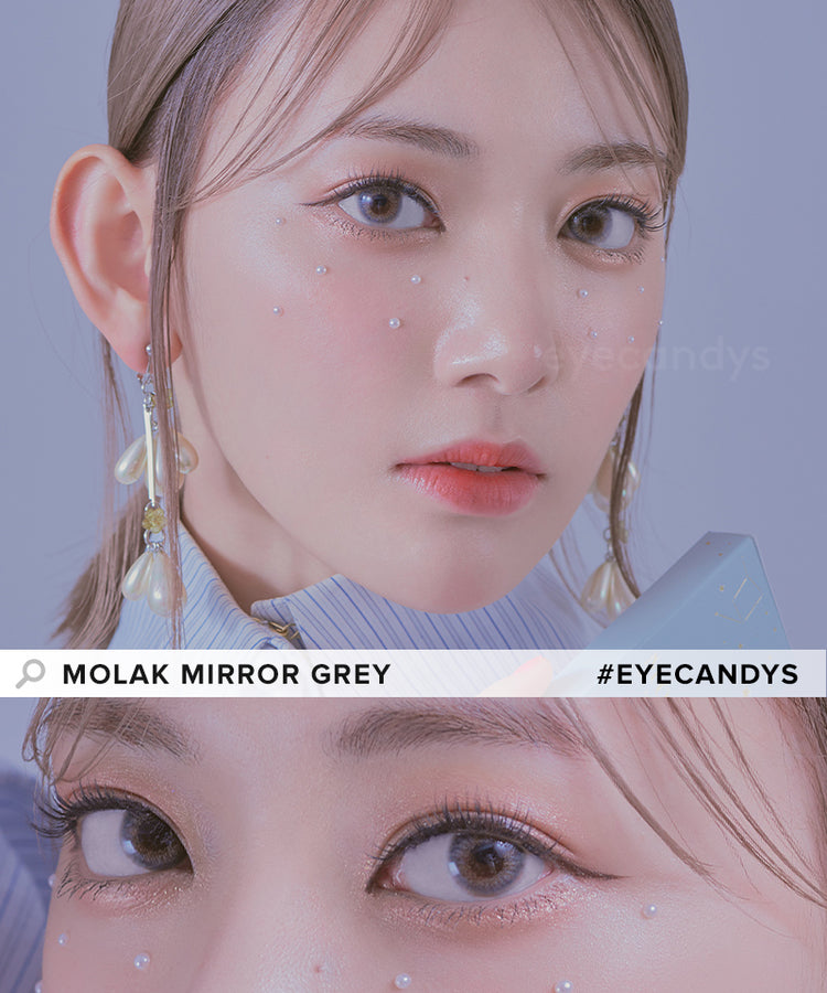 Buy Molak Mirror Grey Color Contacts | EyeCandys