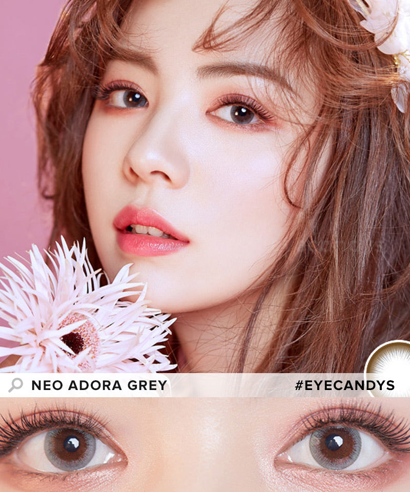 NEO Adora Grey colored contacts circle lenses - EyeCandy's