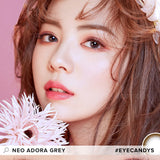 Load image into Gallery viewer, NEO Adora Grey colored contacts circle lenses - EyeCandy's