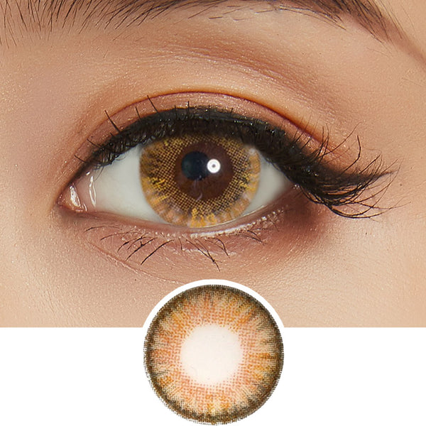 NEO Clover 4 Tone Brown colored contact lenses - EyeCandys