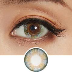 NEO Clover 4 Tone Green colored contacts circle lenses - EyeCandy's