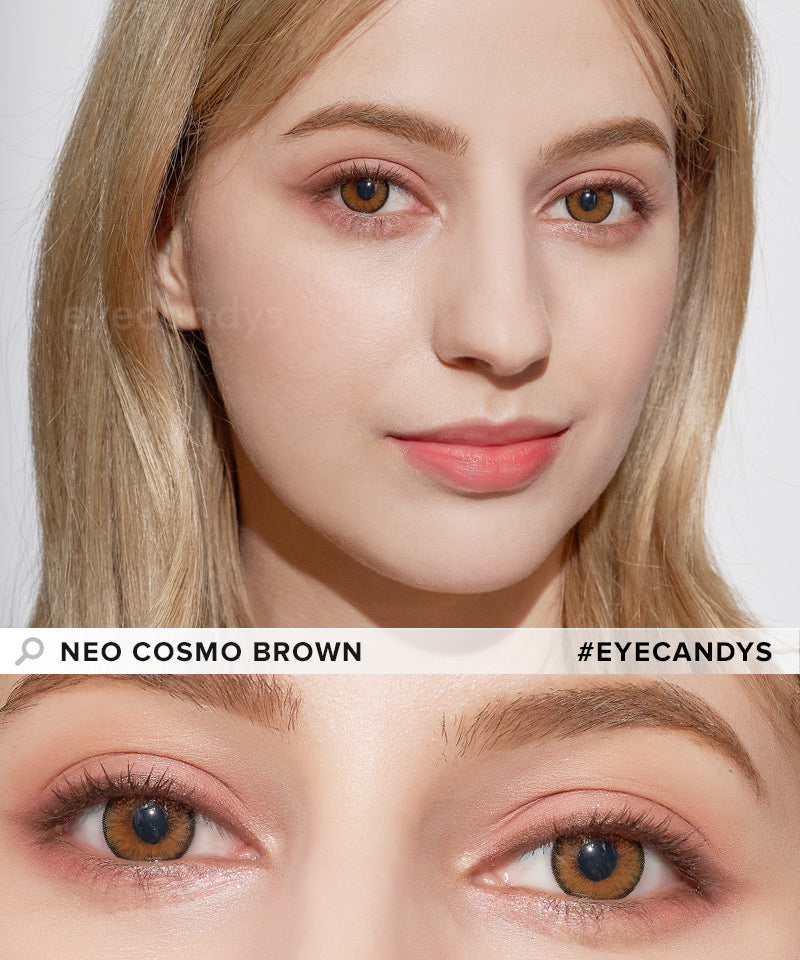 NEO Cosmo Brown (Custom Toric) colored contacts circle lenses - EyeCandy's