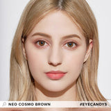 Load image into Gallery viewer, NEO Cosmo Brown (Custom Toric) colored contacts circle lenses - EyeCandy's