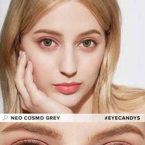 NEO Cosmo Grey colored contacts circle lenses - EyeCandy's