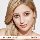 Load image into Gallery viewer, NEO Cosmo Green colored contacts circle lenses - EyeCandy's