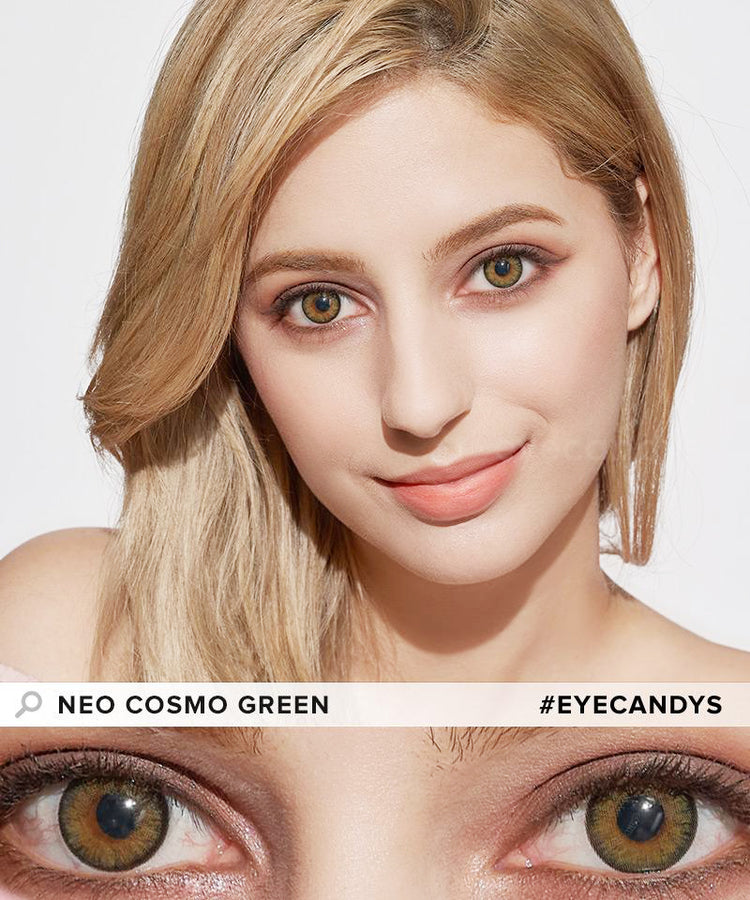 Buy NEO Cosmo Green (KR) Colour Contact Lenses | EyeCandys