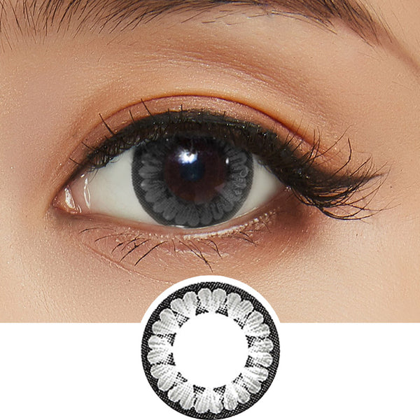 NEO Dali Heart Grey colored contact lenses - EyeCandys