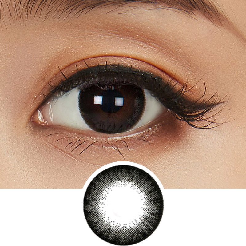 NEO Extra Dali Black (KR) colored contact lenses - EyeCandys