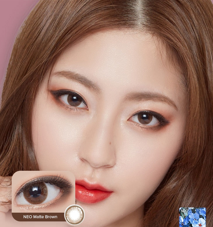 Buy NEO Matte 1-Day Brown Colour Contact Lenses | EyeCandys