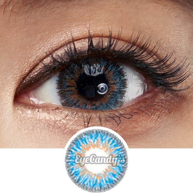 1b821c77b42 NEO Queen 4 Tone Blue colored contacts circle lenses - EyeCandy s