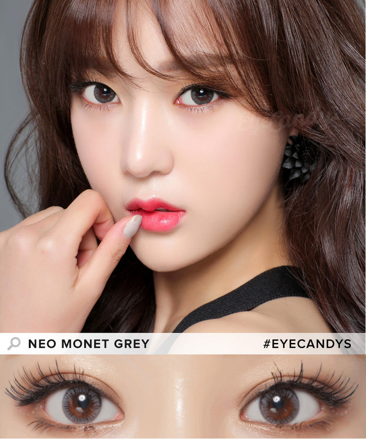 Buy NEO Monthly Monet Grey Circle Lenses | EyeCandys