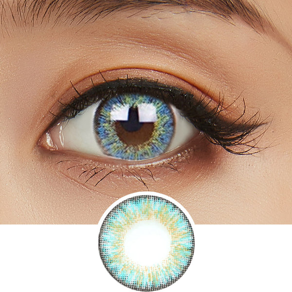 NEO Shimmer Aqua colored contacts circle lenses - EyeCandy's