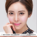 NEO Weekly Shiny Dali Brown (12 Pcs) 12 lenses/box - EyeCandy's