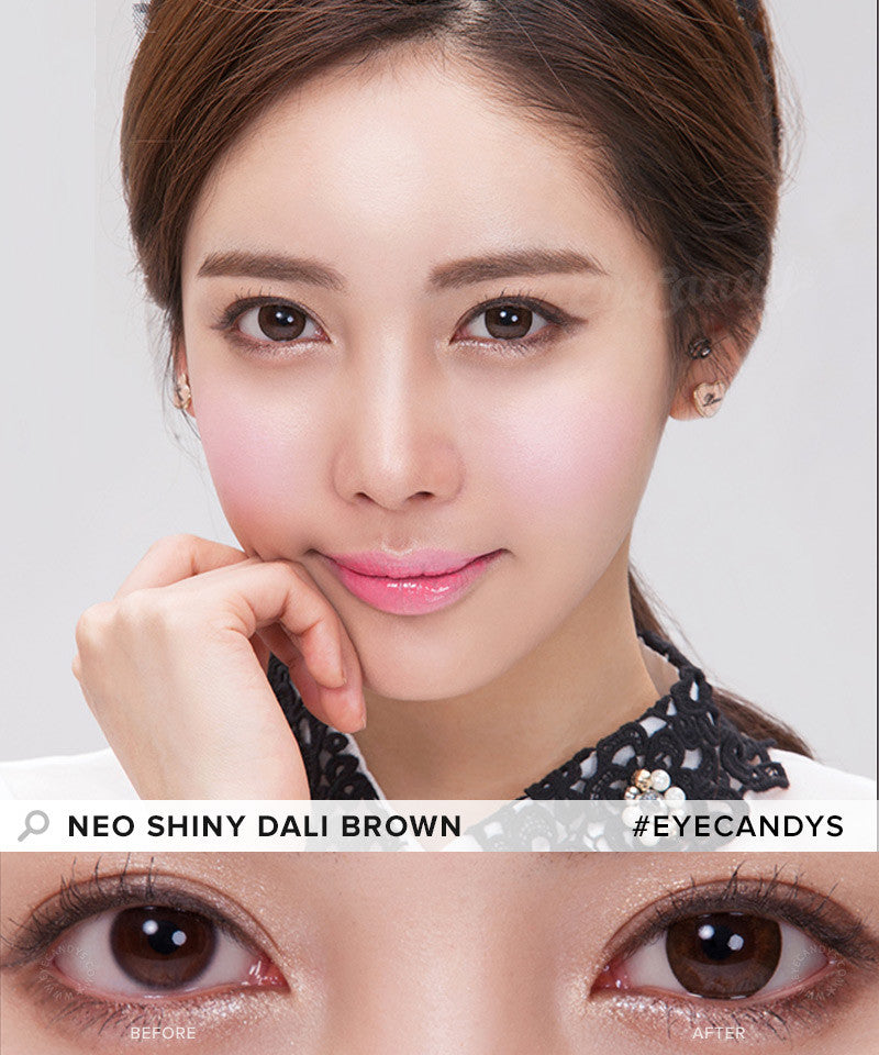 Buy NEO Weekly Shiny Dali Brown Circle Lenses | EyeCandys
