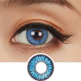 NEO Sunflower Blue colored contacts circle lenses - EyeCandy's