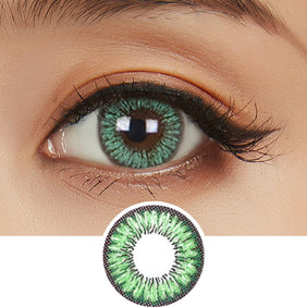 NEO Sunflower Green colored contacts circle lenses - EyeCandy's