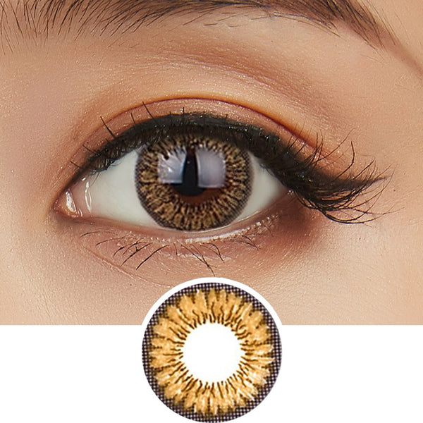 NEO Sunflower Honey colored contacts circle lenses - EyeCandy's