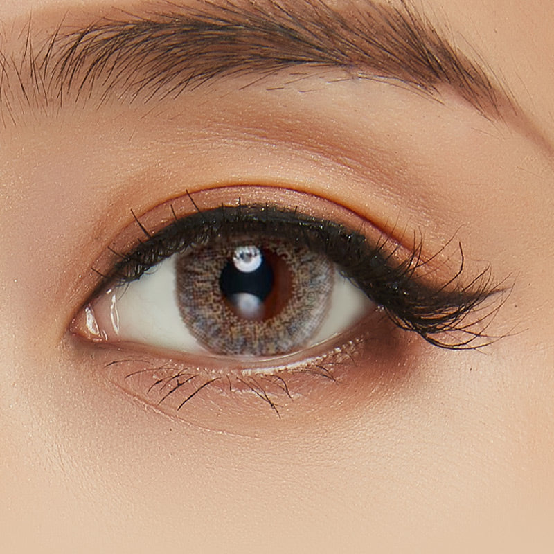EyeCandys Pink Label Nouveau Brown colored contacts circle lenses - EyeCandy's