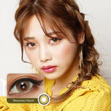 EyeCandys Pink Label Nouveau Hazel colored contacts circle lenses - EyeCandy's