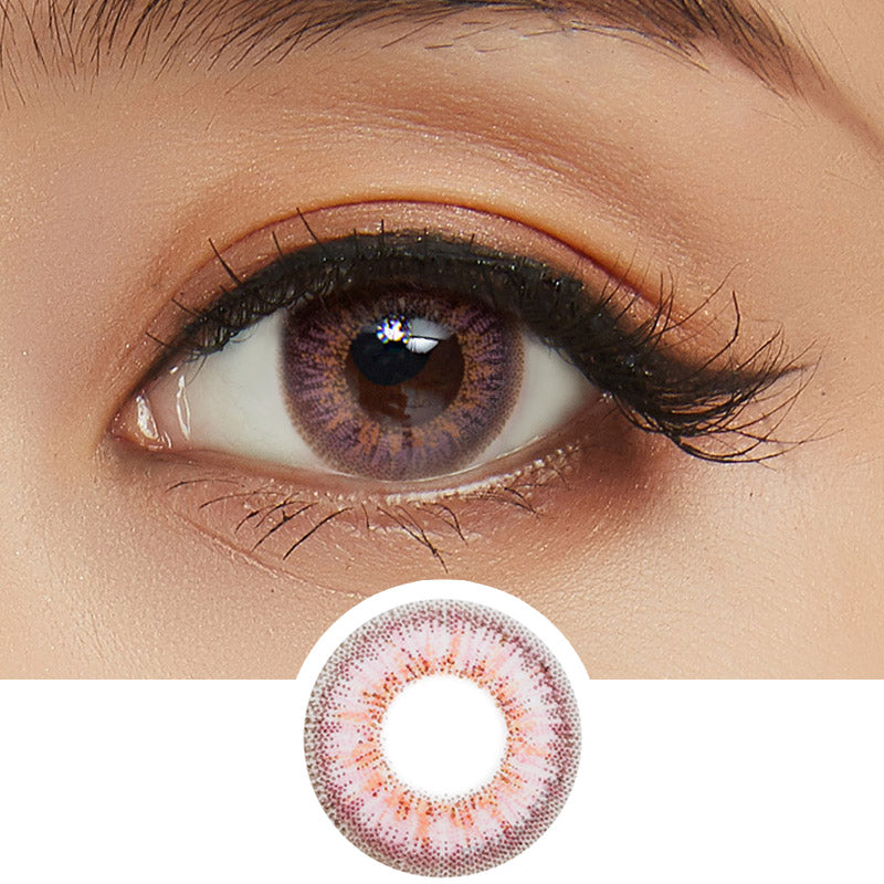 EyeCandys Pink Label Obsession Pink colored contacts circle lenses - EyeCandy's