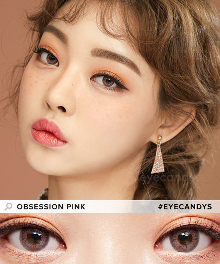 Buy EyeCandys Obsession Pink Coloured Contacts | EyeCandys