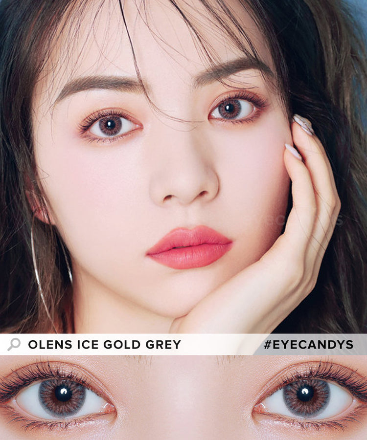 Buy Olens Ice Gold Contact Lenses With Color | EyeCandys