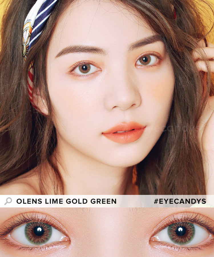Buy Olens Lime Gold Contact Lenses With Color | EyeCandys