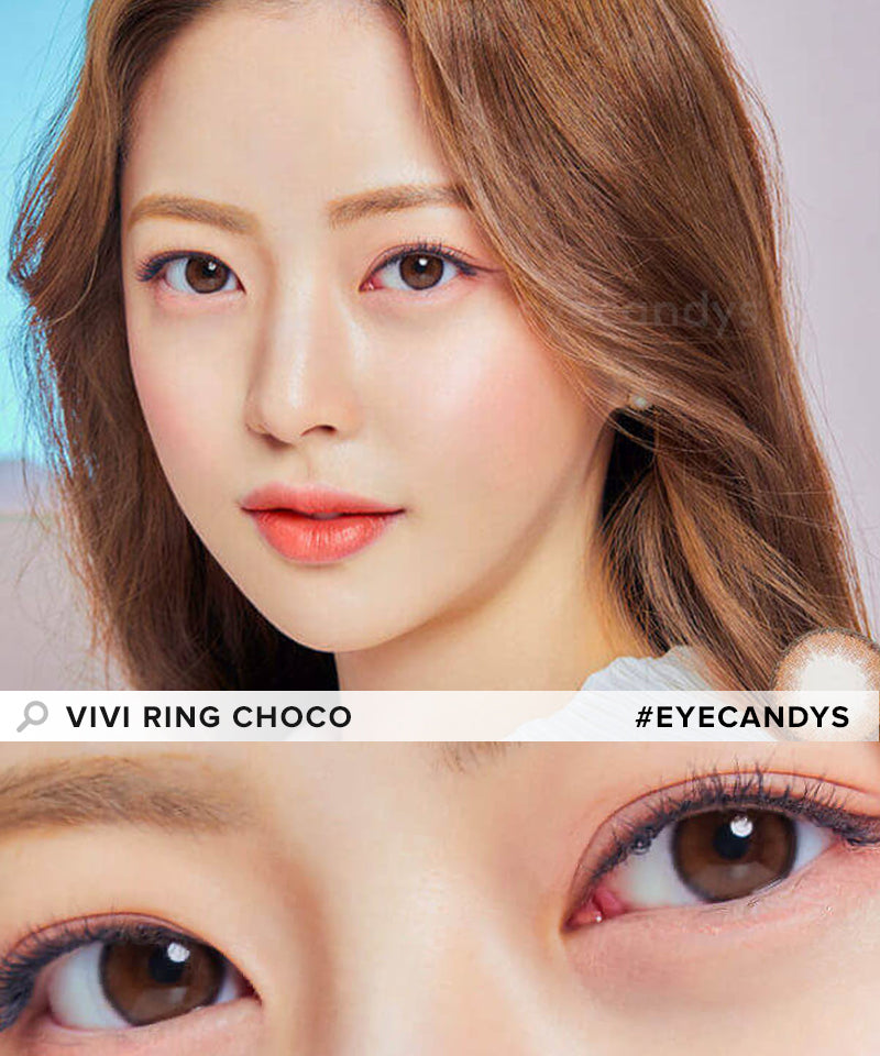 Olens Vivi Ring Choco colored contacts circle lenses - EyeCandy's