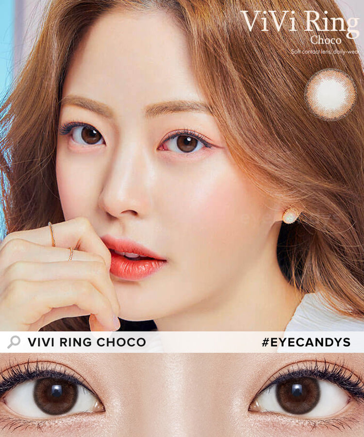 Buy Olens Vivi Ring Choco Contact Lenses With Color | EyeCandys