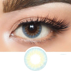 Olens Ocean Gold Blue colored contacts circle lenses - EyeCandy's