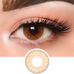 Olens Hazel Gold colored contacts circle lenses - EyeCandy's