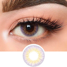 Olens Lavender Gold Violet colored contacts circle lenses - EyeCandy's