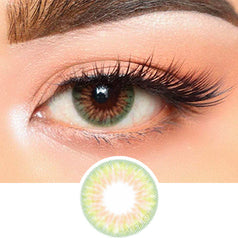 Olens Lime Gold Green colored contacts circle lenses - EyeCandy's