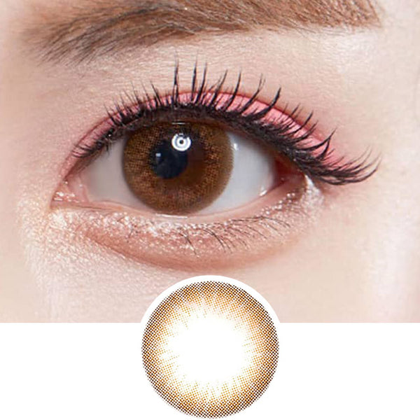 Olens Someday Brown colored contacts circle lenses - EyeCandy's