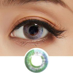 Lenstown Luna Prism Grey colored contacts circle lenses - EyeCandy's