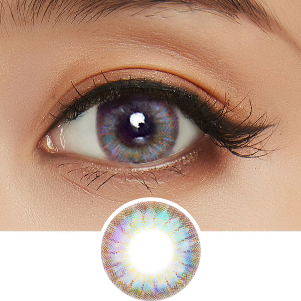 EyeCandys Pink Label Rio Brown Violet colored contacts circle lenses - EyeCandy's